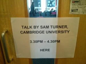 My name up in lights (close enough) at Tavistock College.